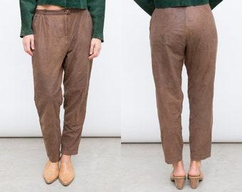 1970s Vintage flared pants, tan khaki flares 70s bell