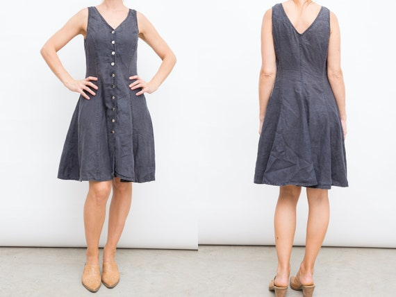 37ecd2c45b Black Denim Dress French Connection Dress Medium Size Dress | Etsy