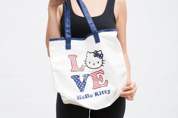 a43ba117941 Vintage Hello Kitty Bag Authentic Sanrio Bag Love Tote   Etsy