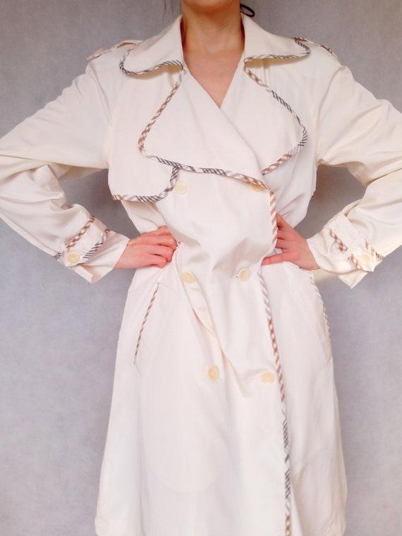 Vintage Beige Trenchcoat, Voglia Coat, Small Size
