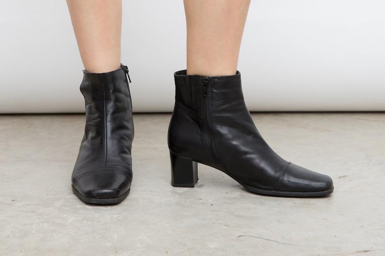 386838171836a Classic Black Heels, Clarcks Retro Shoes, Size 38 Heels, Vintage Black  Boots, Black Ankle Shoes, 90s Black Boots, US 7.5, UK 5, Grunge Heels