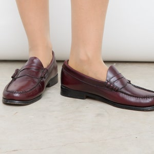411d15b50ad G.H. Bass Weejuns Men s Oxblood Brown Leather Penny Loafers