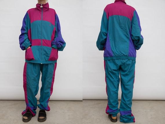 90s Track Suit, Vintage Sports Suit, Leopard Track