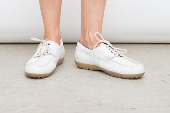 Bally Golf Shoes, 80s White Shoes, 10 US / 43,5 EU