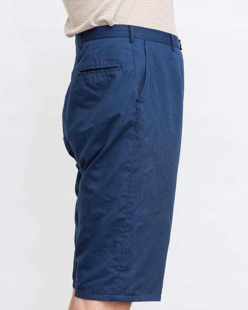 2ad2bc015a63 80 s Vintage Navy Blue Short Mens Shorts   Men Alpin