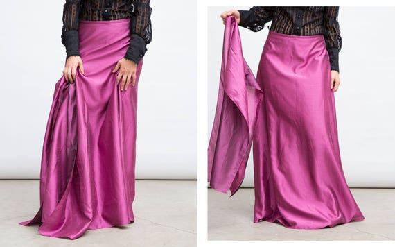 Vintage Pink Skirt, Retro Pink Skirt, Formal Pink