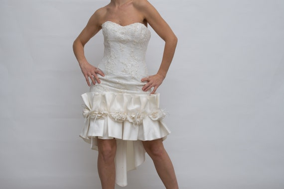 Vintage Designer Ian Stuart London Wedding Dress,