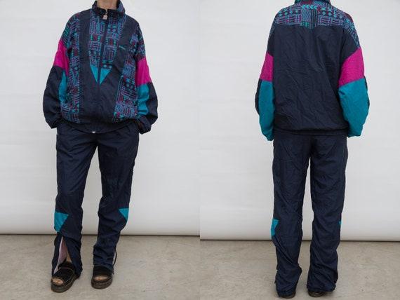 90s Track Suit, Vintage Men Sports Suit, Shiwi Tra