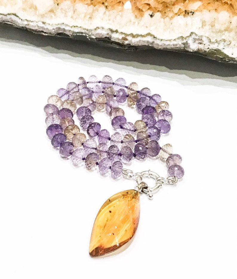 Ametrine and Amber Necklace