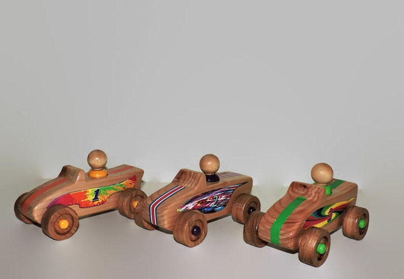 Wooden Toy Cars With Wooden Toy People