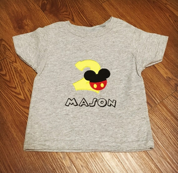 Mickey Mouse Birthday Shirt Personalized Disney