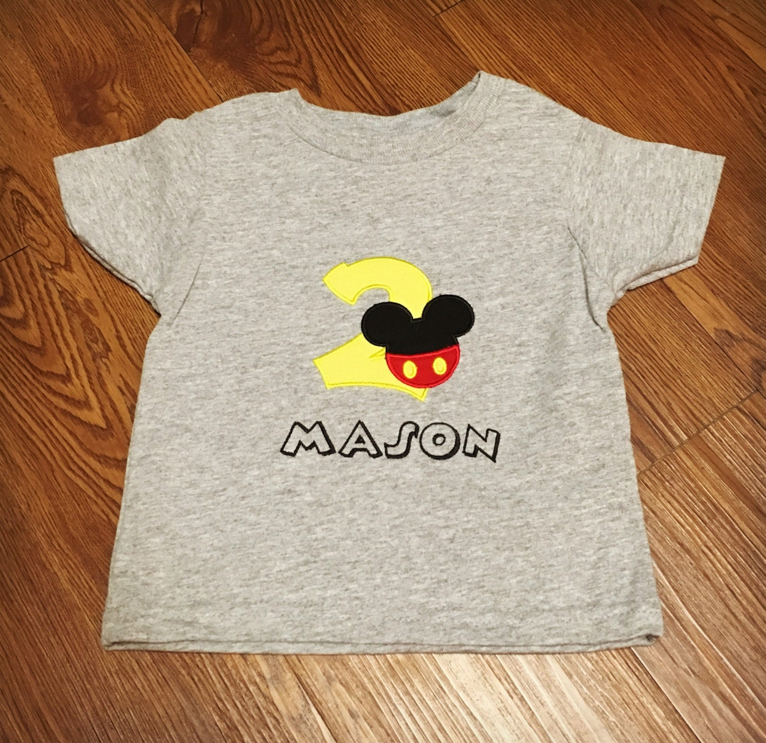 Mickey Mouse Birthday Shirt Personalized Disney Embroidered Boys Toddler First