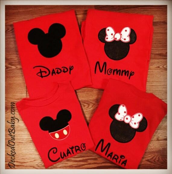 Familia Navidad Disney Camisas Juego Navidad Camisas Camisas Etsy