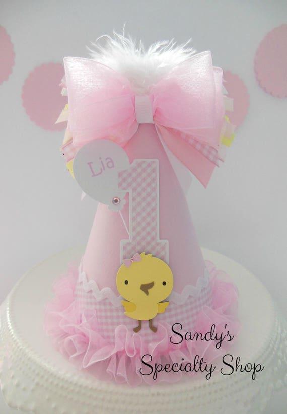 b625a21fe06 Lil  Chick Barnyard Cutie Party Hat-Pink Gingham