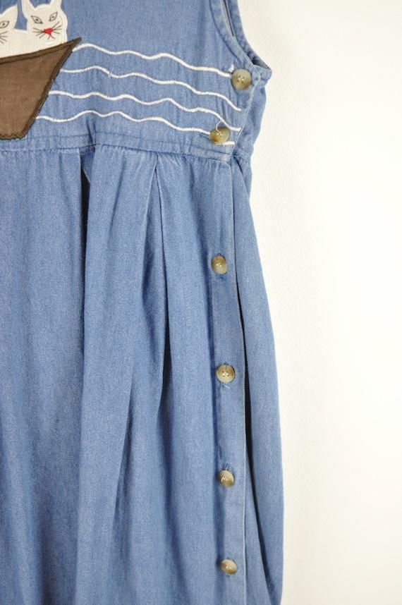 90s Noahs Ark Pinafore Dress - Large | Vintage Bl… - image 5