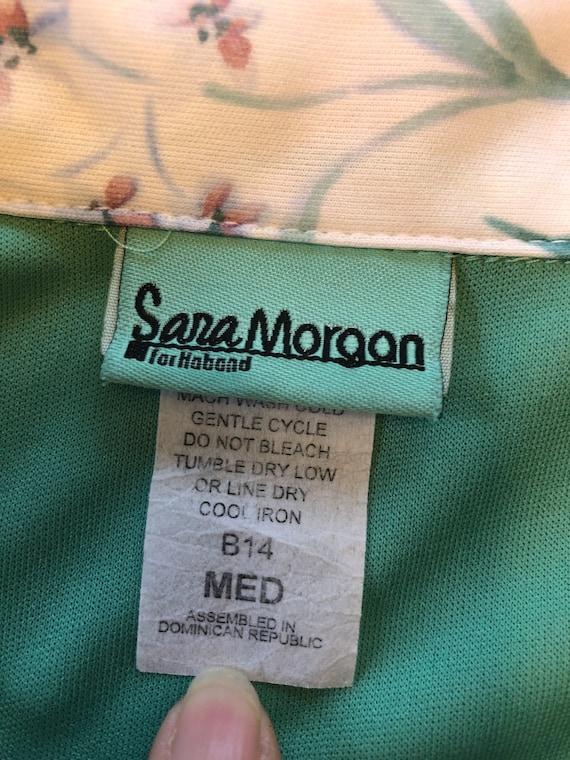 70s Mint Green Blouse M - image 3