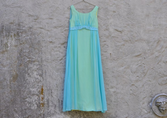 60s Chiffon Dress XS 0/2