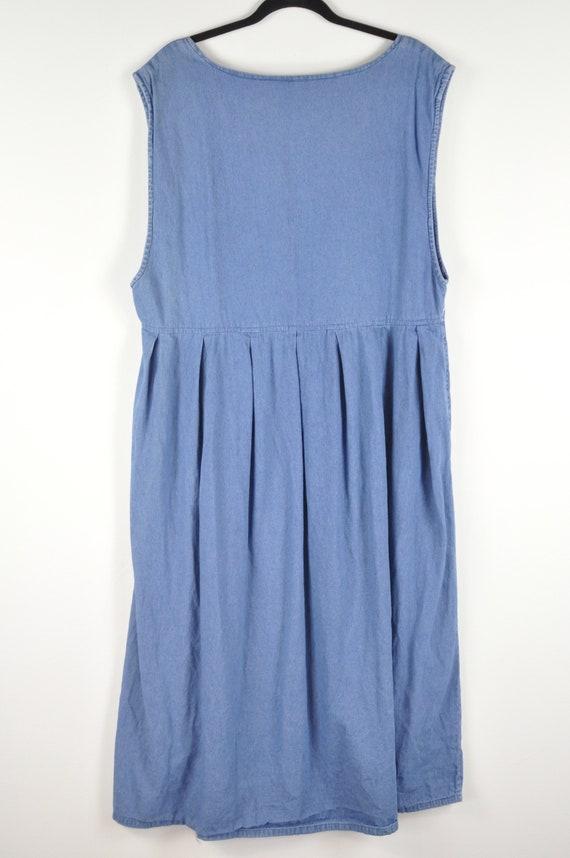 90s Noahs Ark Pinafore Dress - Large | Vintage Bl… - image 6