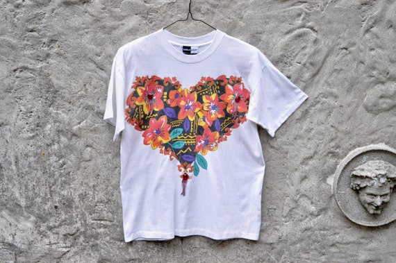 80s Floral Graphic Tee XL