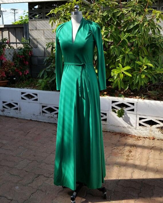 Christmas Green Seventies Maxi - image 9