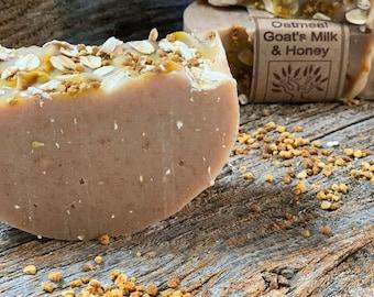 Oatmeal, Goat's Milk, & Honey Castile - 77% Olive Oil Soap