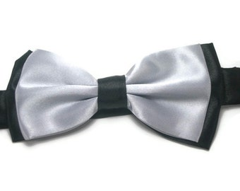 Light grey and black  bowtie