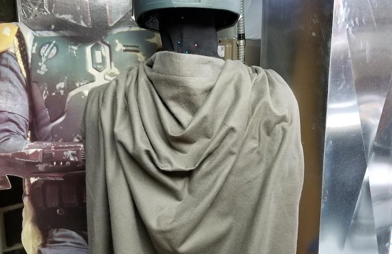 Star Wars Costume Star Wars Cape GRAY Mandalorian Cape The Mandalorian Costume Gray Cape Gray Cloak