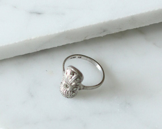 1920s small art deco ring// 1920s cocktail ring// vintage ring