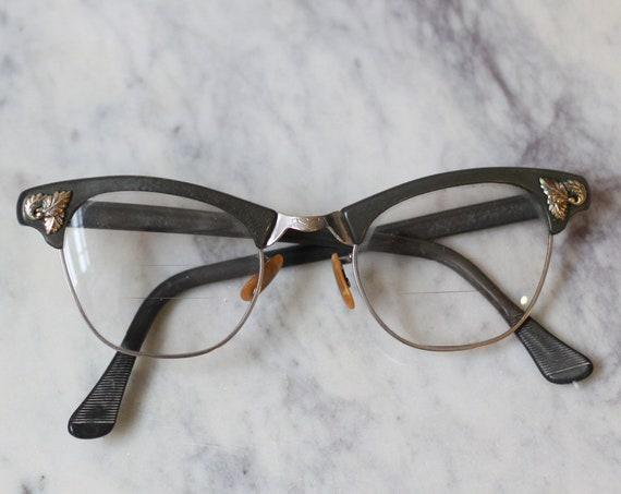 1960s green cat eye glasses // 1960s glasses  // vintage glasses