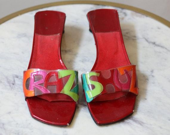 1990s novelty sandals // vintage clear sandals // vintage pvc shoes
