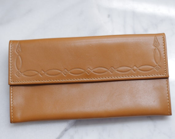 1970s thin leather wallet // 1970s leather wallet // vintage wallet