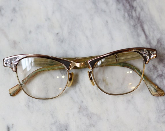 1950s metal rim glasses // 1960s glasses  // vintage sunglasses
