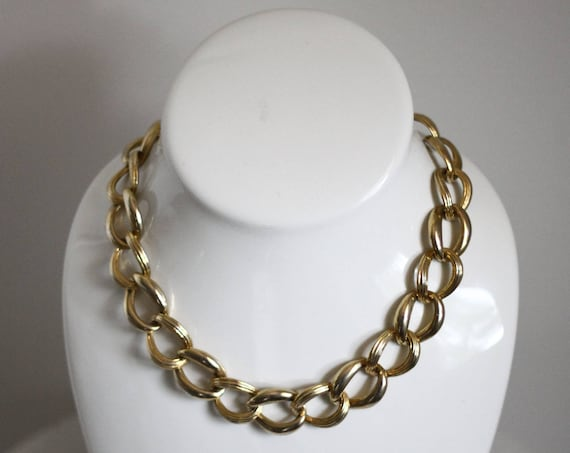 1980s gold chain necklace // 1980s adjustable chain // vintage jewlery