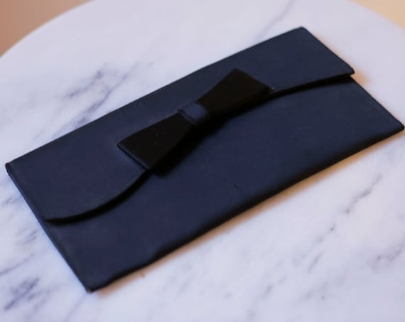 1960s black clutch purse // black evening purse // vintage purse