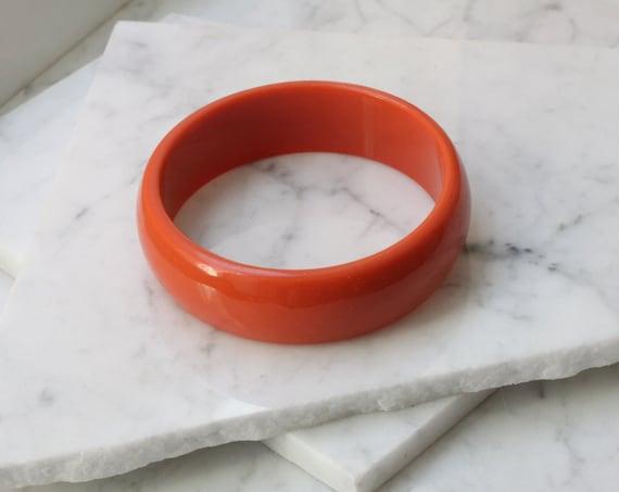 1960s orange bangle // cuff bracelet // vintage jewlery