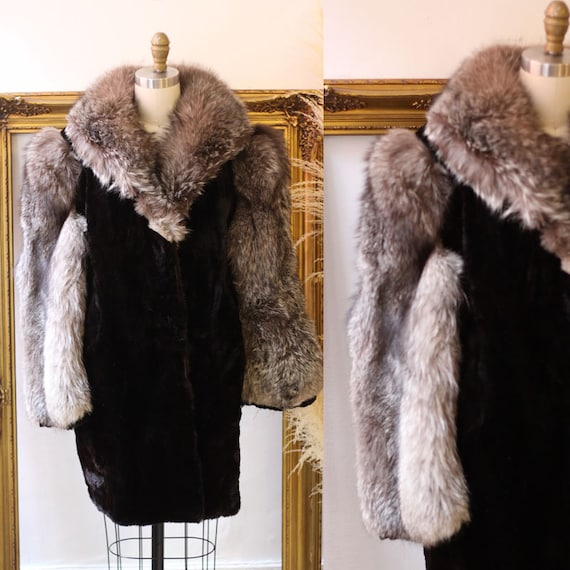 1970s fur coat //1970s Casino fur coat // vintage fur coat