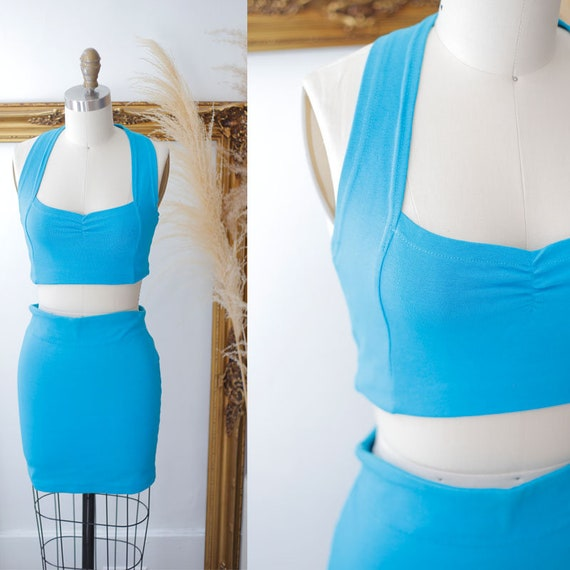 1980s spandex workout set // 1980s Jane Fonda outfit // 1980s athletic gear
