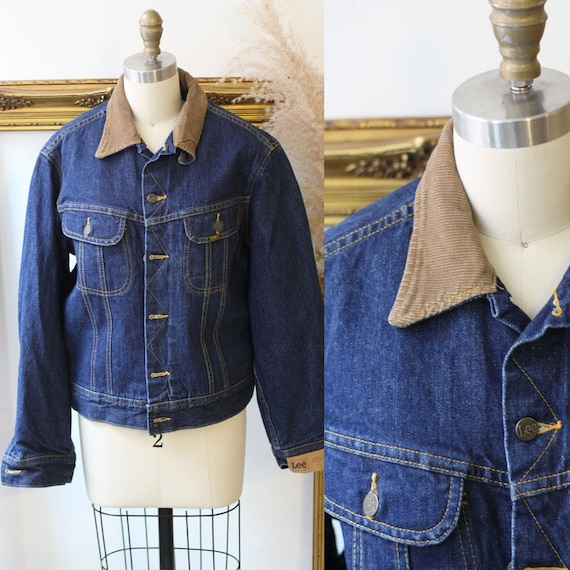 1980s LEE Denim Jacket // 1980s blanket lined jean jacket // vintage LEE denim jacket