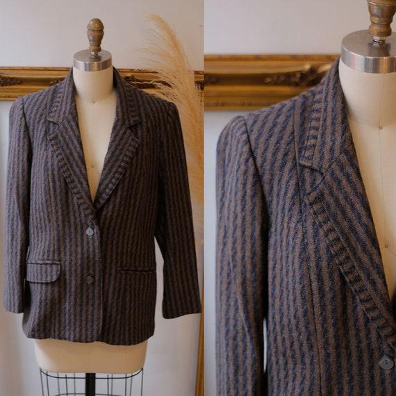 1970s striped blazer // 1970s oversized blazer // vintage blazer