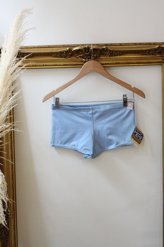 1950s light blue Swim King trunks //1950s swimming shorts // 1960s deadstock bathing su