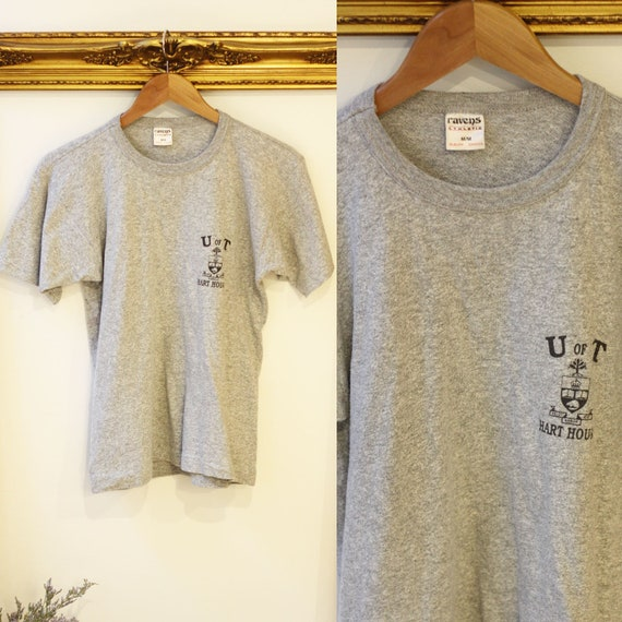 1980s heather grey U of T t-shirt // vintage U of T shirt // vintage t-shirt