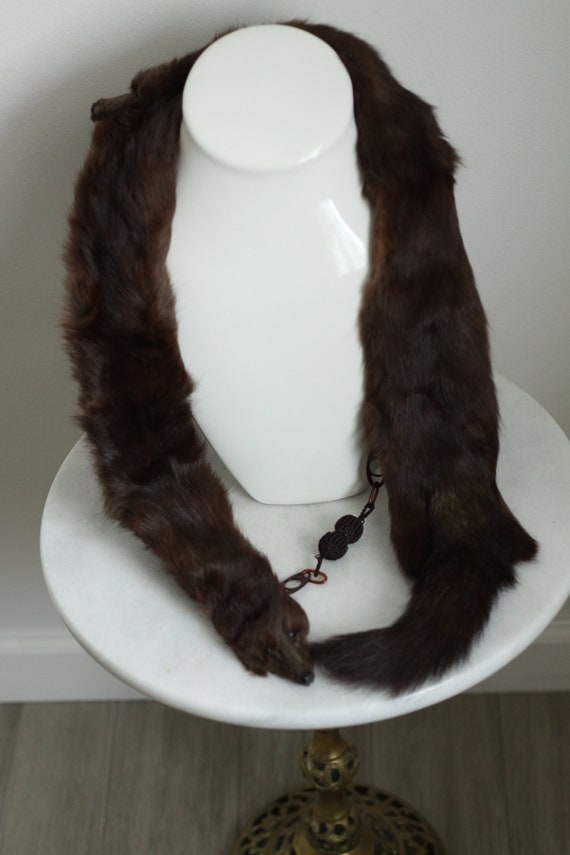 1930s mink fur collar // brown fur collar // vintage fur collar