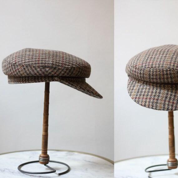 1970s tweed hat // 1970s newsboy hat // vintage newsboy hat