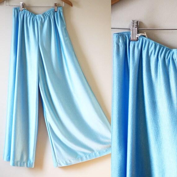 1980s blue palazzo pants // vintage palazzo pants // vintage jeans