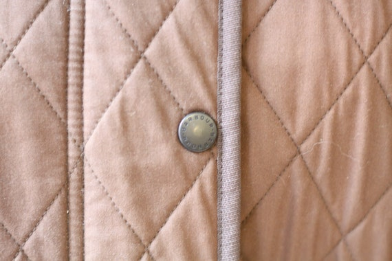 1990s quilted Barbour jacket  //brown quilted jac… - image 5