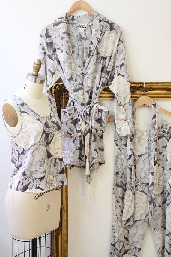 1980s three piece silk set // 1980s 3 piece flora… - image 2