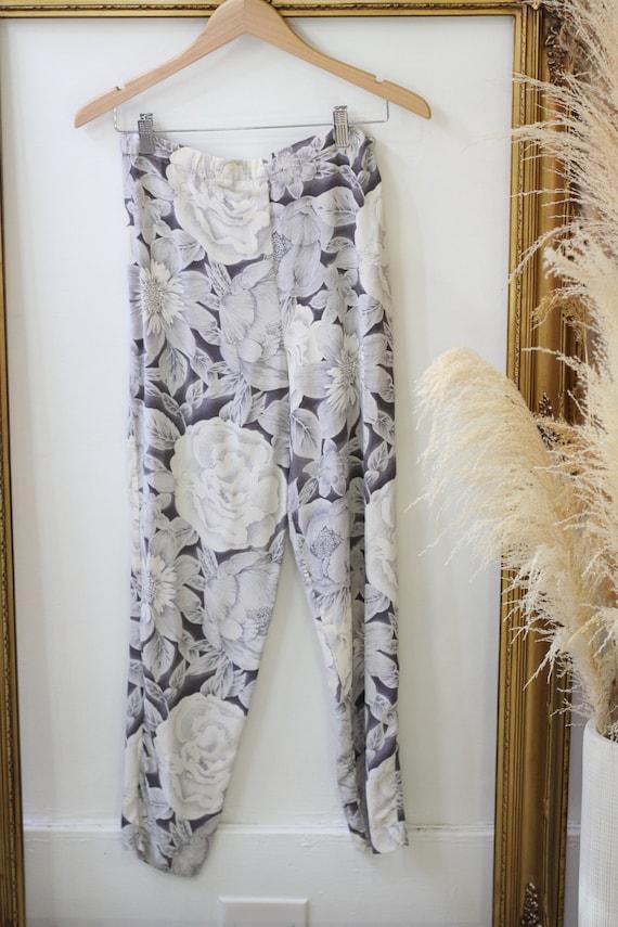 1980s three piece silk set // 1980s 3 piece flora… - image 3
