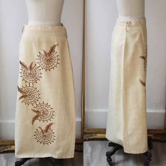 1960s spiderweb maxi skirt // vintage maxi skirt//