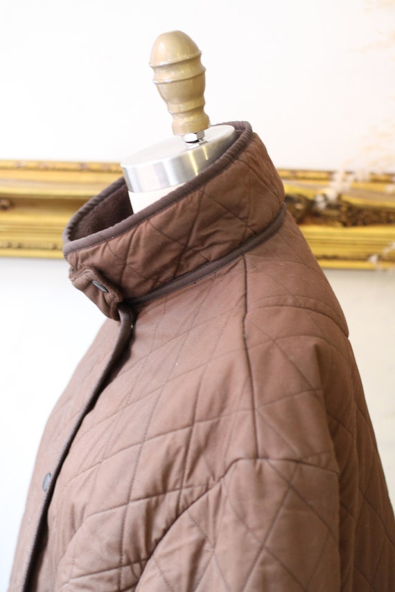 1990s quilted Barbour jacket  //brown quilted jac… - image 8