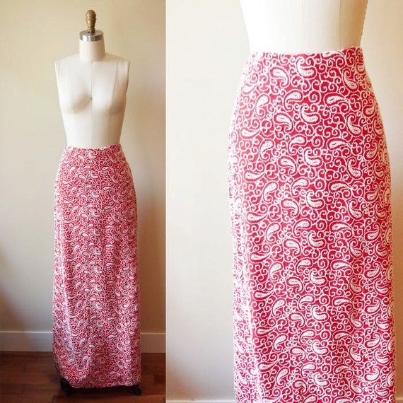 1960s embroidered maxi skirt // statement // vintage skirt